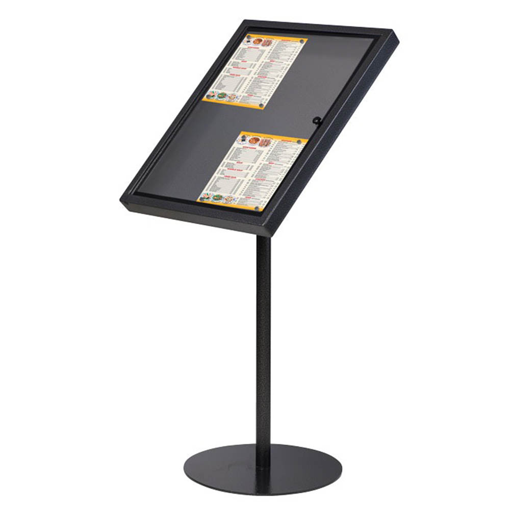 Porte menu intérieur extérieur Black Hammer 4 x A4 couleur noir
