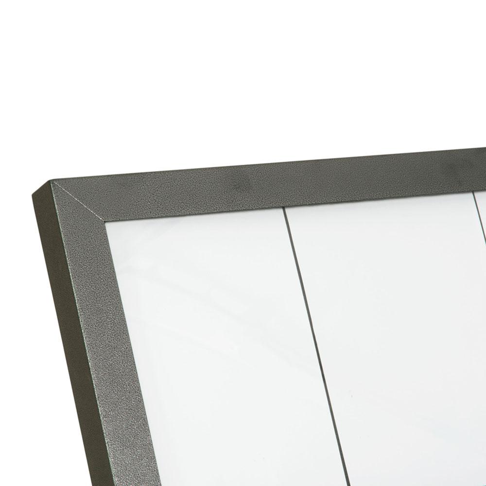 Porte-menu mural LED gris métallisé format 6 x A4 - Présentoir mural menu hôtel restaurant