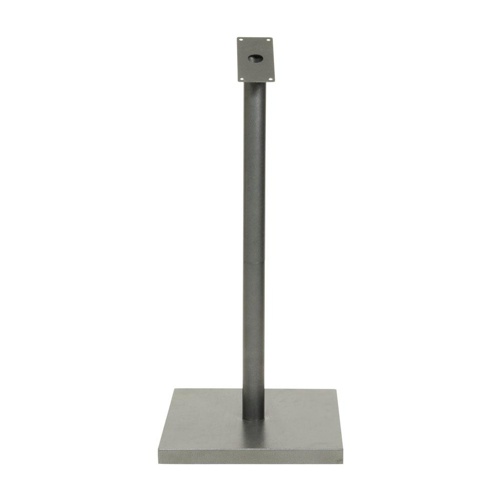Pied pour porte menu modèle gris métalisé - Hauteur 95 cm