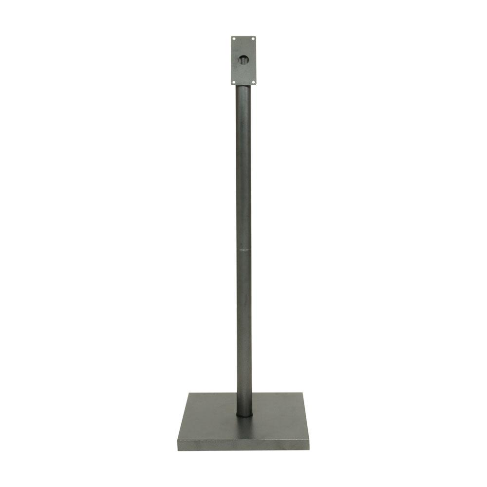 Pied pour porte menu modèle gris métalisé - Hauteur 135 cm