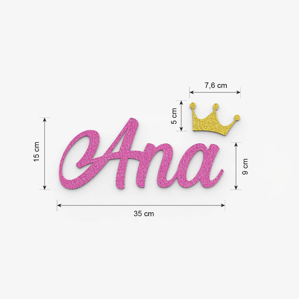 Plaque de porte prénom à personnaliser couleur rose à paillettes - Décoration porte de chambre, anniversaire, naissance