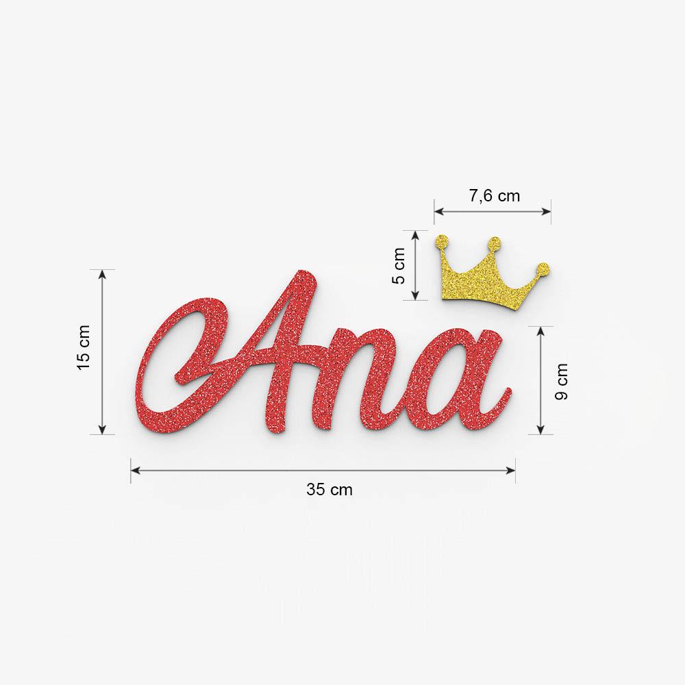 Plaque de porte prénom à personnaliser couleur rouge à paillettes - Décoration porte de chambre, anniversaire, naissance