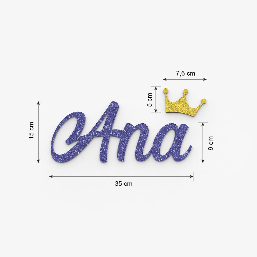 Plaque de porte prénom à personnaliser couleur bleue à paillettes - Décoration porte de chambre, anniversaire, naissance
