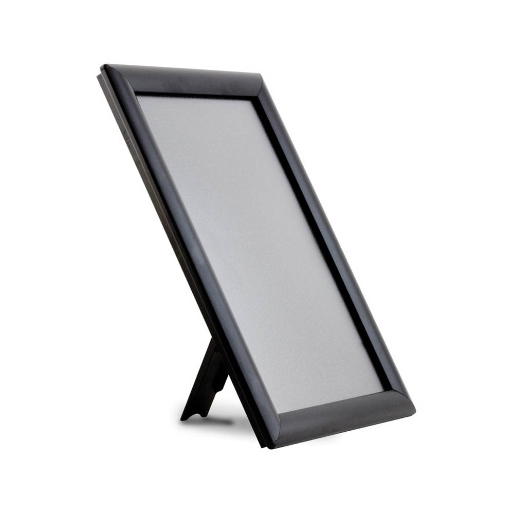 Cadre porte document format A4 modèle Opti Frame couleur noir profil 25 mm