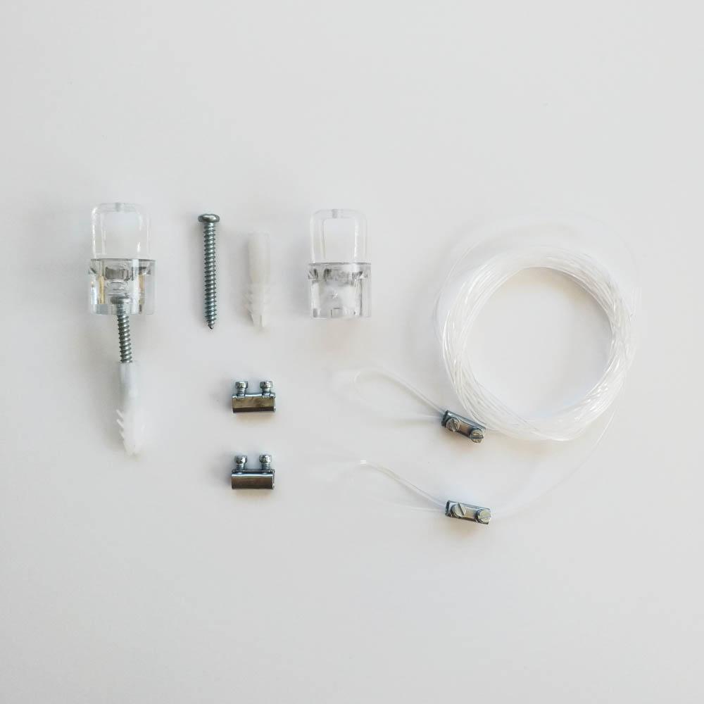 Kit de suspension en nylon longueur 2 mètres - Suspension signalétique et cadres