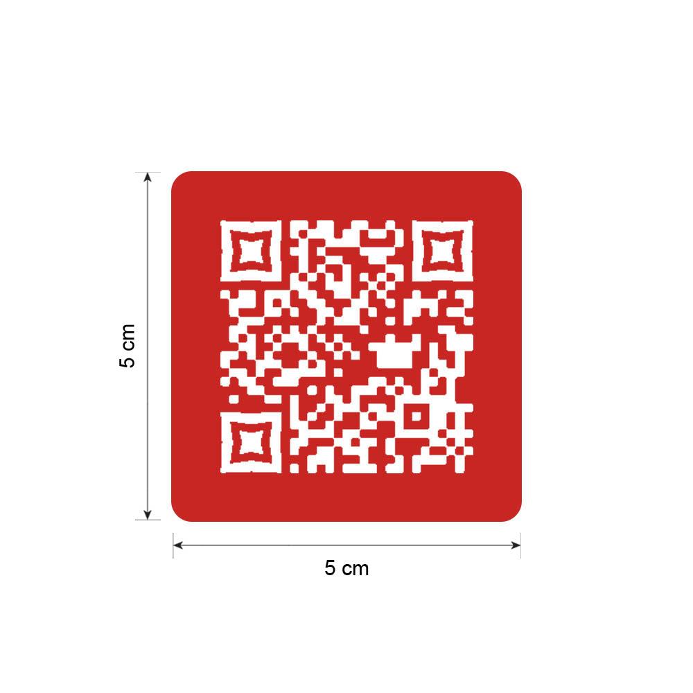 Menu sans contact pictogramme carré QR Code pour présentation menu hôtel restaurant - Couleur rouge