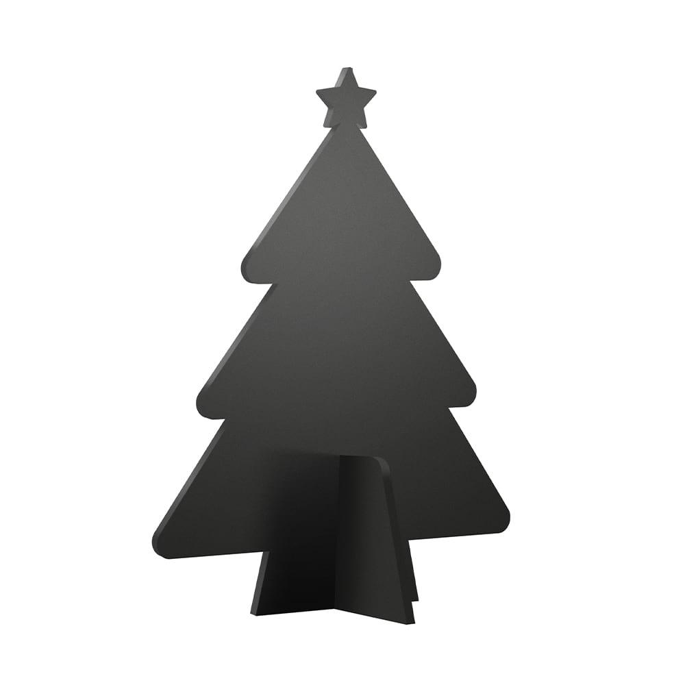 Ardoise silhouette 3D noire modèle Sapin de Noël + 3 feutres-craie - Décoration Noël ardoise restaurant
