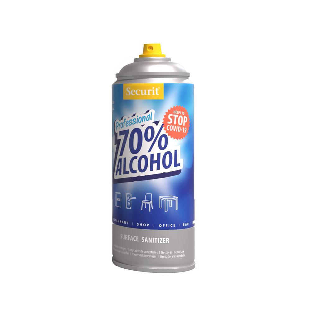 Spray hydroalcoolique pour nettoyer et désinfecter toutes surfaces - Spray nettoyant hôtel-restaurant