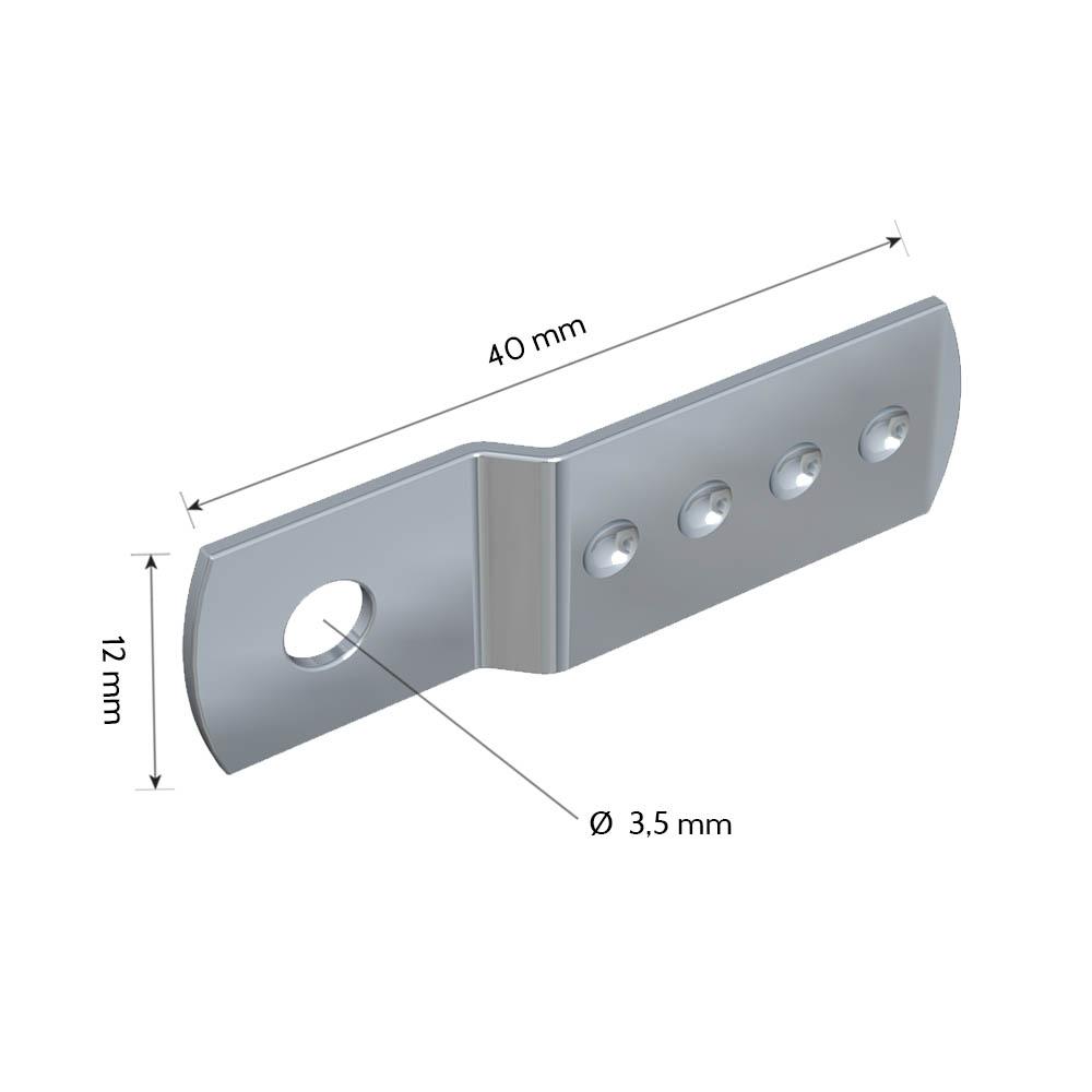 Lot de 10 pattes acier guide câble perlon / câble acier pour cadres et tableaux