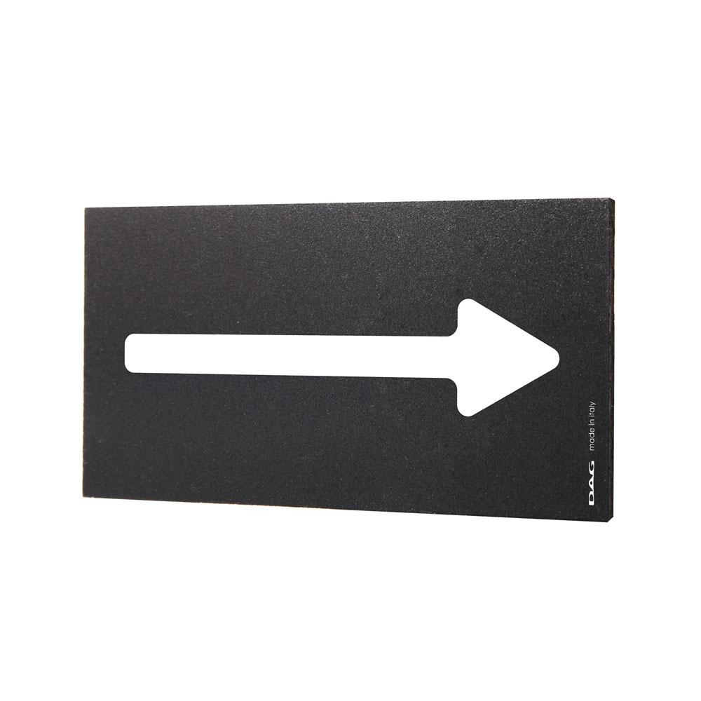 Plaque de porte Flèche 8 x 15 cm - Signalétique noir/ blanc design pour lieux publics