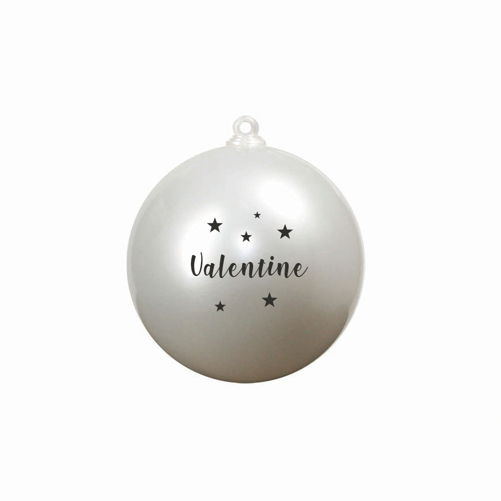 Boule de Noël personnalisable 2 faces modèle Joyeuses Fêtes - Boule de Noël surprise - Diamètre 12 cm