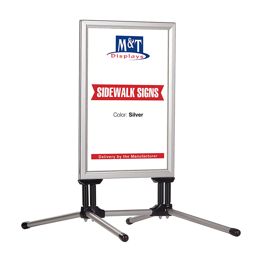Stop trottoir extérieur SWING PRO couleur Alu format A0 (84,1 x 118,9 cm) - Panneau d'affichage extérieur