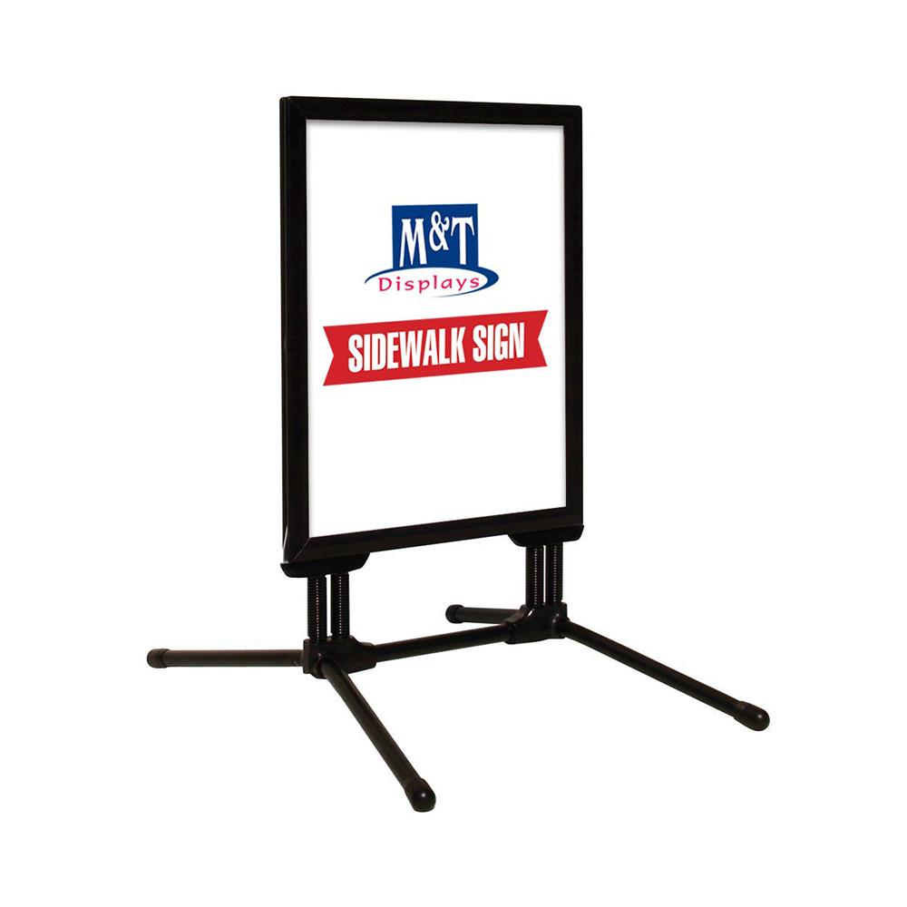 Stop trottoir extérieur SWING PRO couleur Noir format A1 ( 59,4 x 84,2 cm) - Panneau d'affichage extérieur
