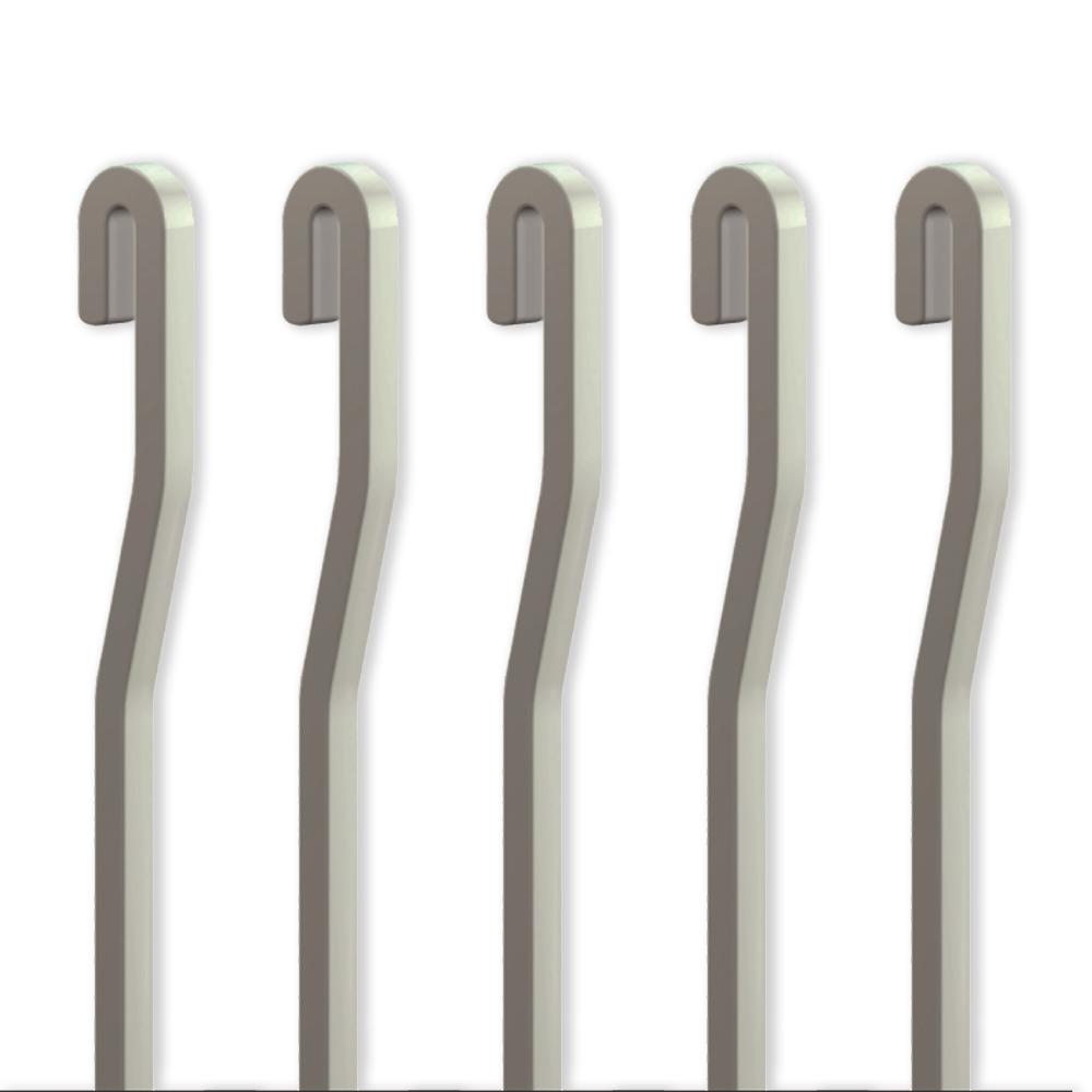 Pack 5 tiges ALU Aluminium 4x4 mm en S pour cimaise