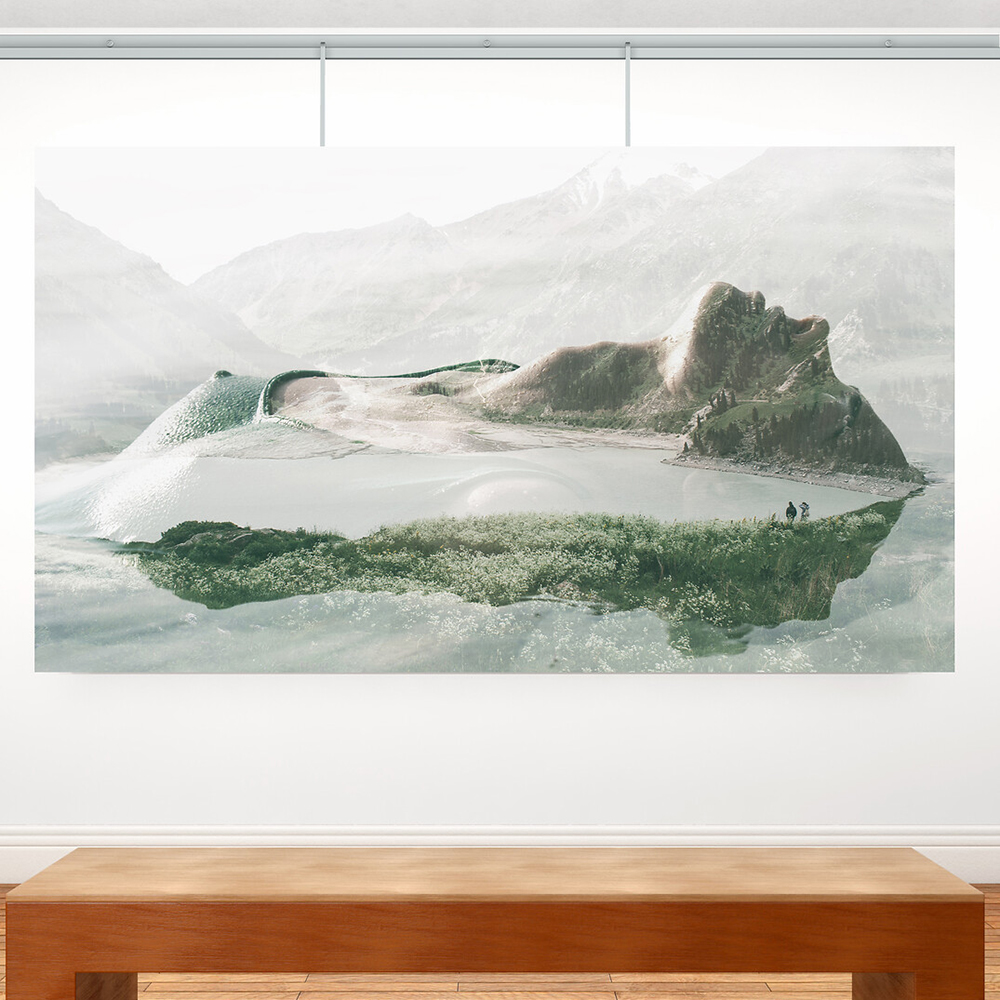Pack 4 mètres cimaises Classic + Gallery couleur Aluminium - Solution d'accrochage pour décoration murale lourde