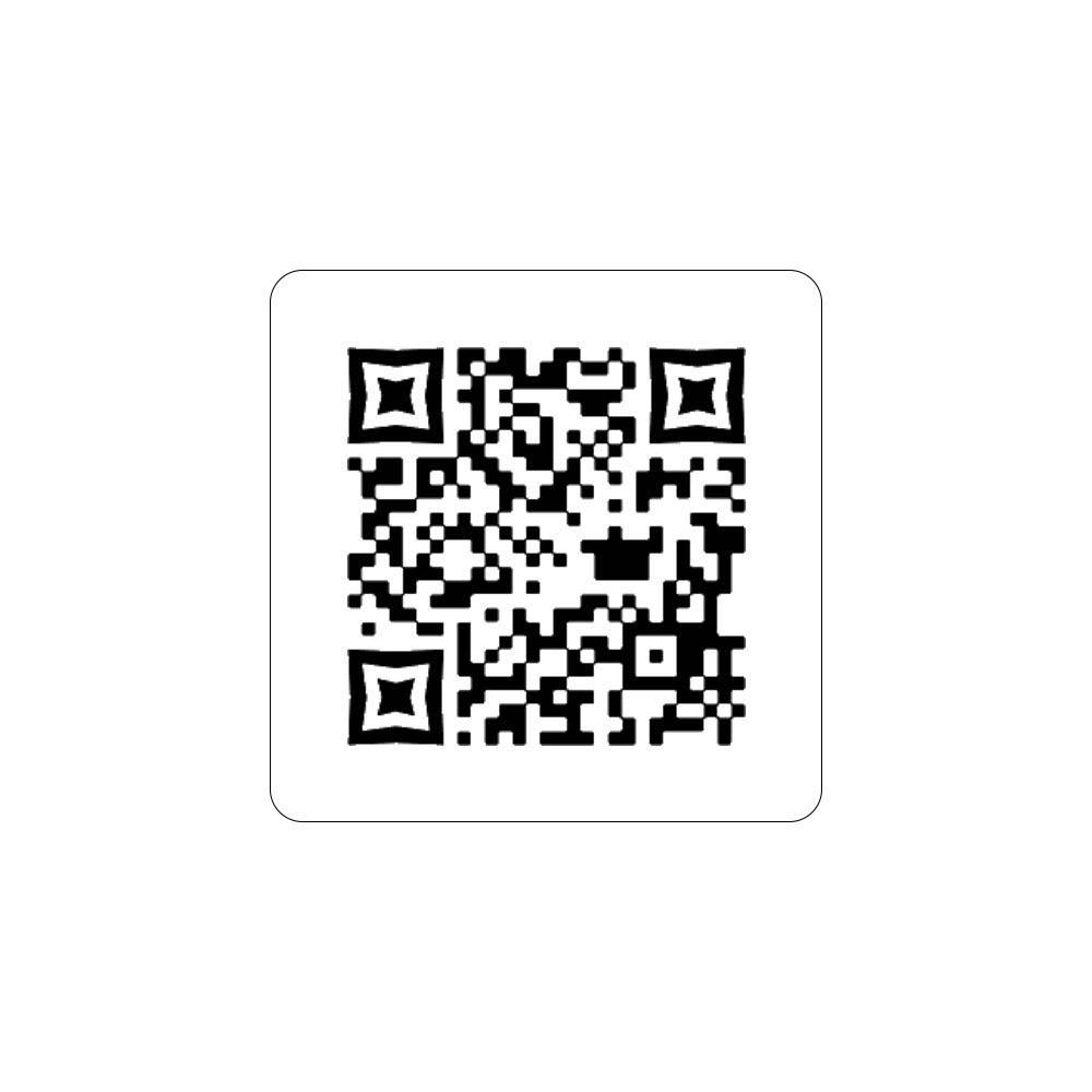 Menu sans contact pictogramme carré QR Code pour présentation menu hôtel restaurant - Couleur blanc