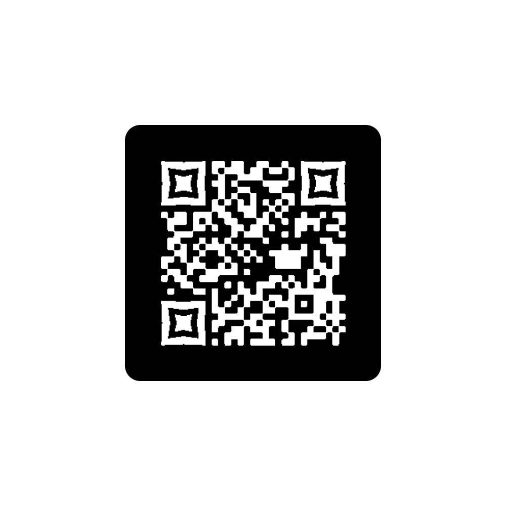 Menu sans contact pictogramme carré QR Code pour présentation menu hôtel restaurant - Couleur noir