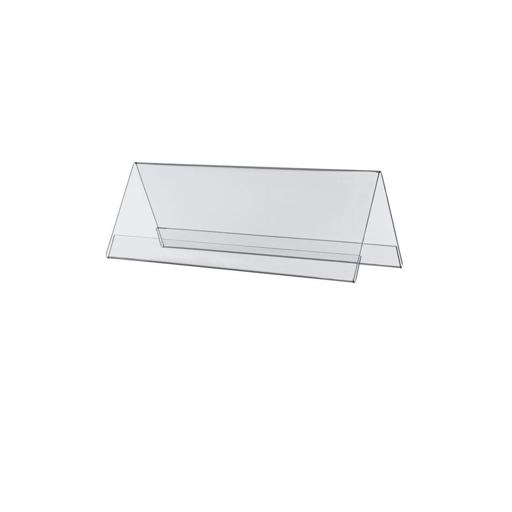 10 Chevalets porte nom double face en plexiglass - 10 x 4 cm