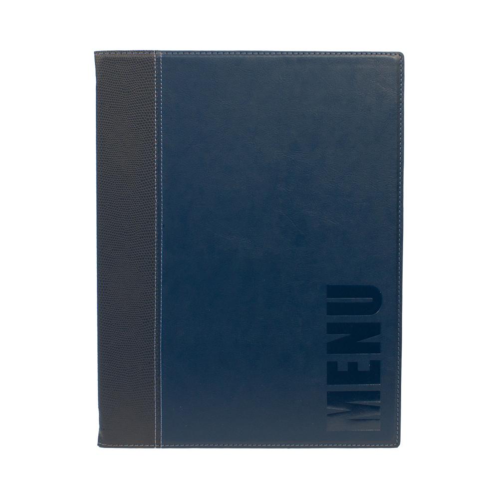 Lot 10 protège-menu Tendance format A4 couleur bleu - Porte menu hôtel restaurant - Securit