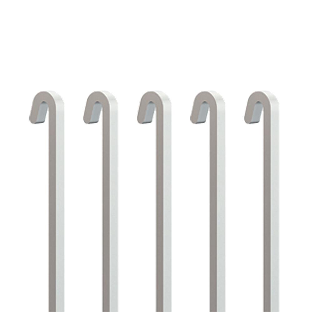 Pack 5 tiges ACIER blanc 4x4 mm DROITE pour cimaise