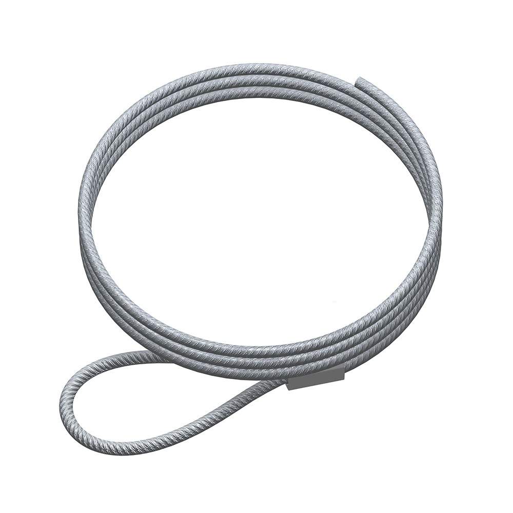 Lot 10 câbles à boucle en acier