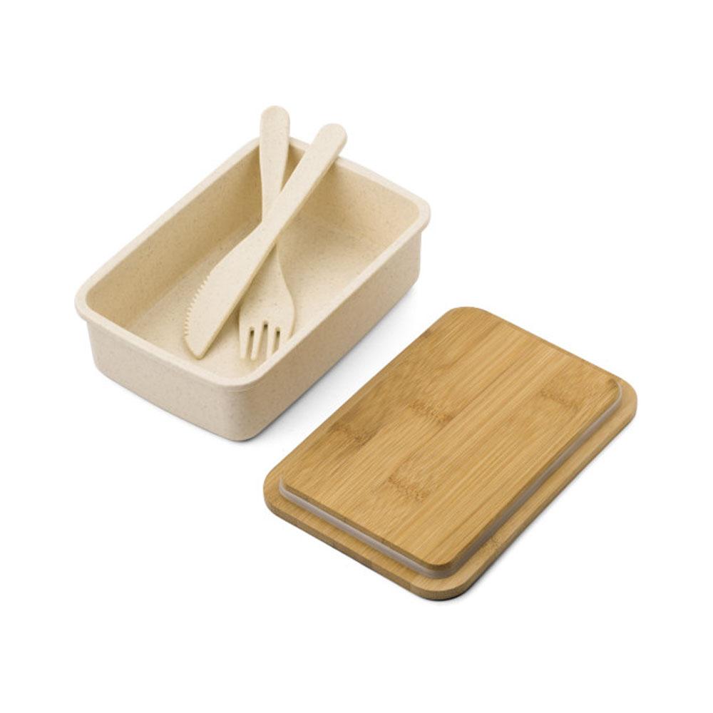 Lunch box bambou personnalisable - Boite repas bambou modèle Trio - Lunch box écologique