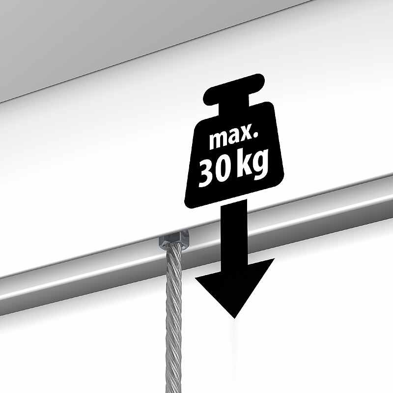 Rail Newly R20 - 100 cm (max 30kg/m)