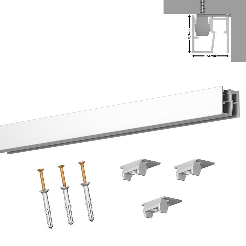 Rail cimaise Newly R40 - Longueur 100 cm