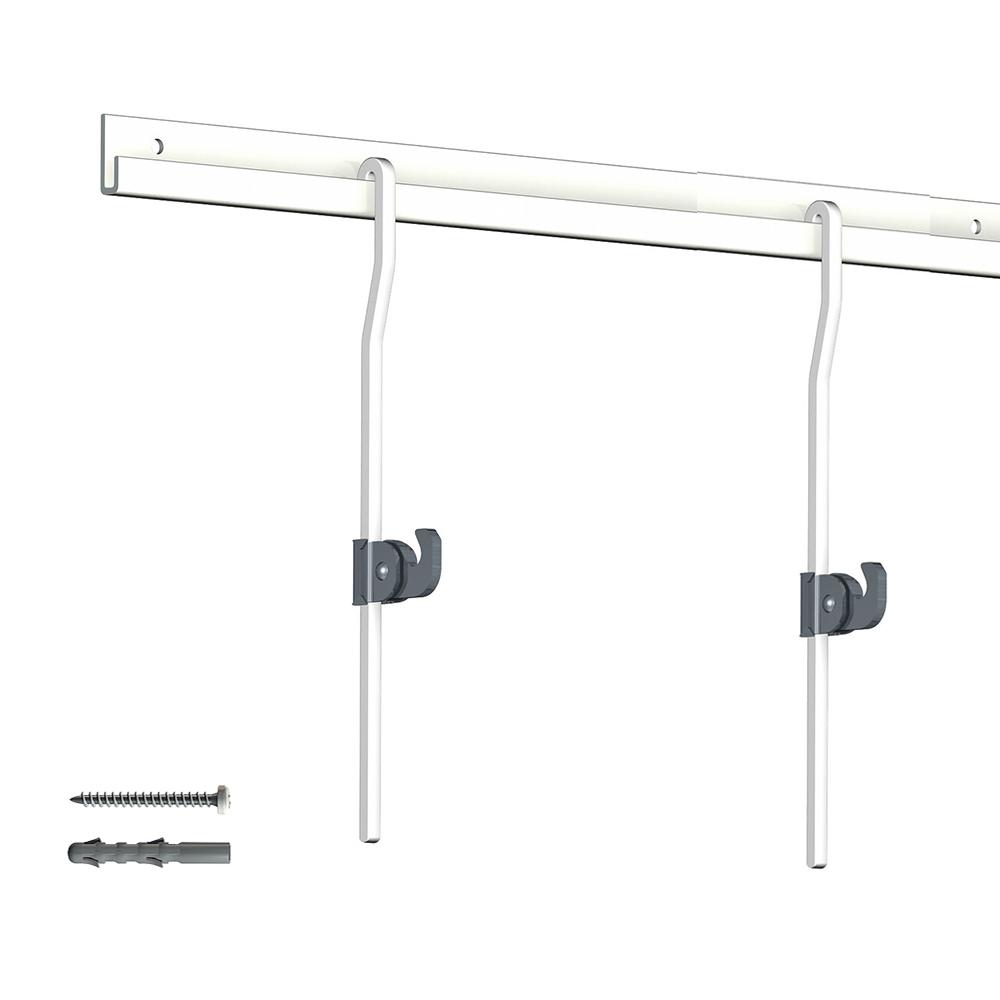 Pack 4 mètres cimaises Classic + Gallery couleur Blanc - Solution d'accrochage pour décoration murale lourde