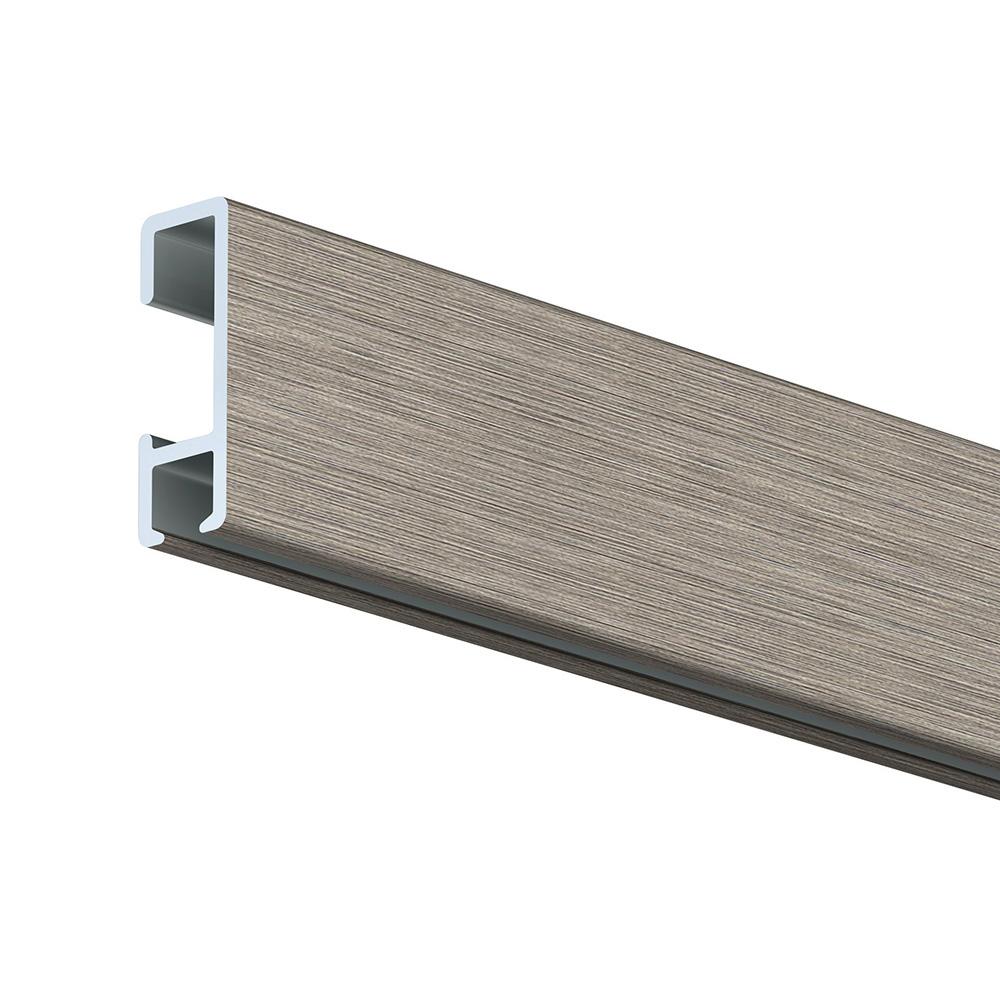 Rail cimaise Artiteq Click Rail longueur 1 mètre couleur Blanc mat (peut être peint)