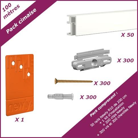 Pack cimaise R10 – 100 mètres