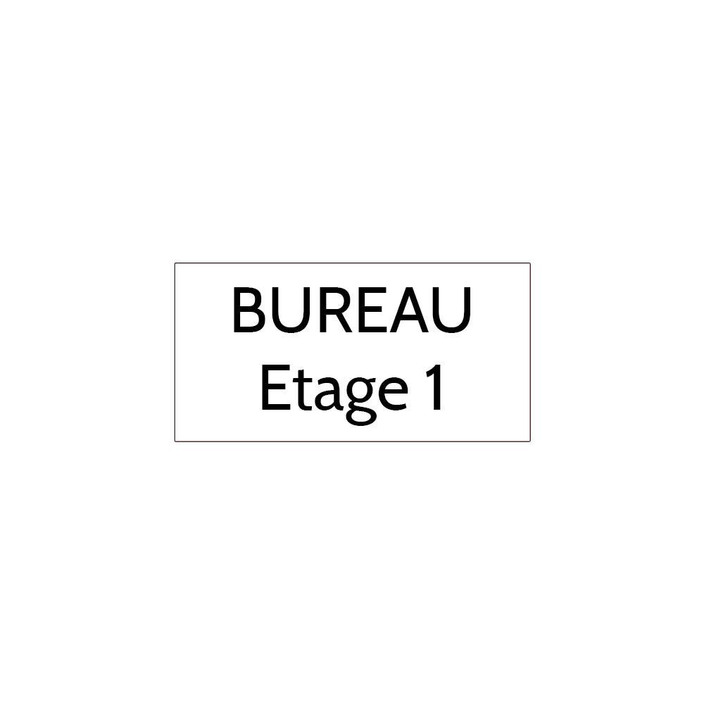 Plaque de porte gravée sur 1 à 2 lignes couleur blanche lettres noires - Format rectangle 75 x 150 mm