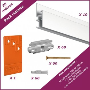 Pack 20 meters cimaise R30