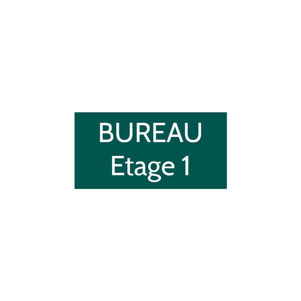 Plaque de porte gravée sur 1 à 2 lignes couleur vert foncé lettres blanches - Format rectangle 75 x 150 mm