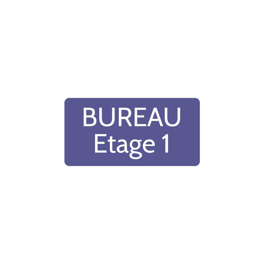 Plaque de porte gravée sur 1 à 2 lignes couleur violette lettres blanches - Rectangle angles arrondis 75 x 150 mm