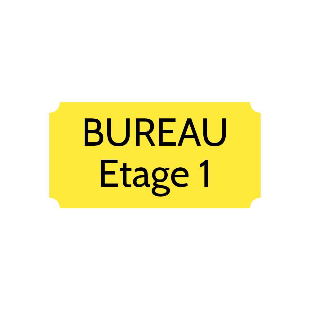 Plaque de porte gravée sur 1 à 2 lignes couleur jaune lettres noires - Format rectangle classique 100 x 200 mm
