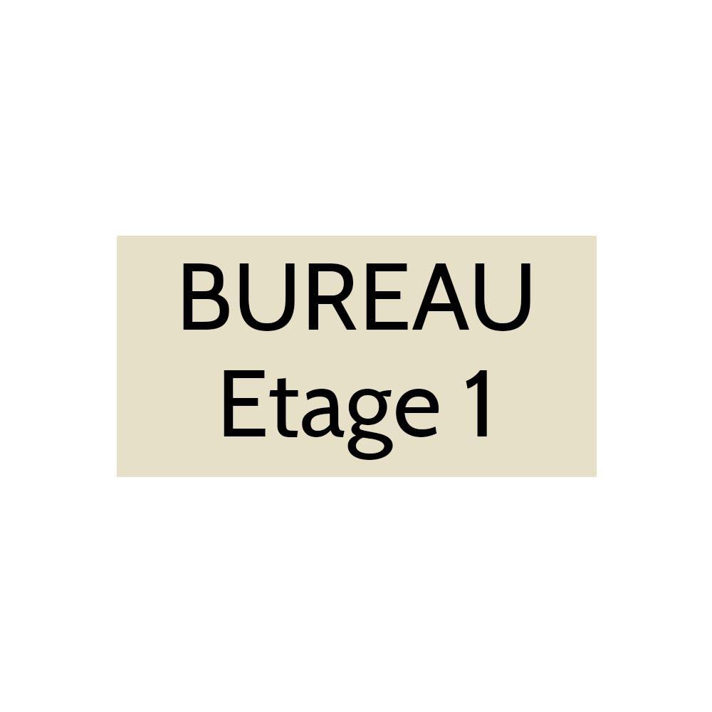 Plaque de porte gravée sur 1 à 2 lignes couleur beige lettres noires - Format rectangle 100 x 200 mm