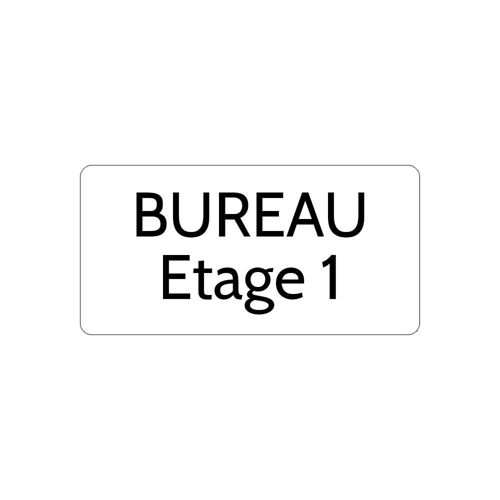 Plaque de porte gravée sur 1 à 2 lignes couleur blanche lettres noires - Rectangle angles arrondis 100 x 200 mm