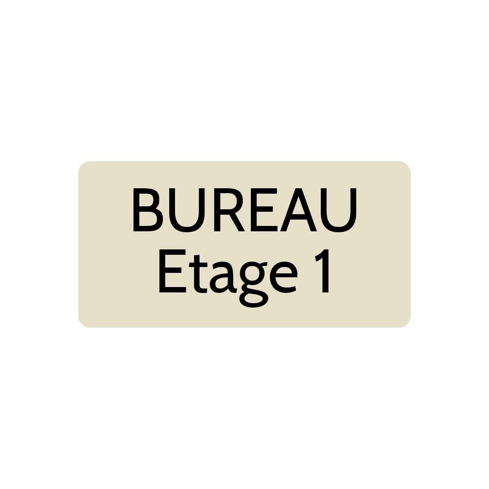 Plaque de porte gravée sur 1 à 2 lignes couleur beige lettres noires - Rectangle angles arrondis 100 x 200 mm