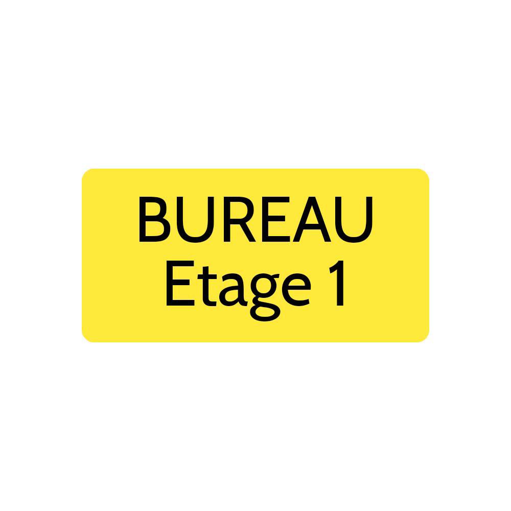 Plaque de porte gravée sur 1 à 2 lignes couleur jaune lettres noires - Rectangle angles arrondis 100 x 200 mm