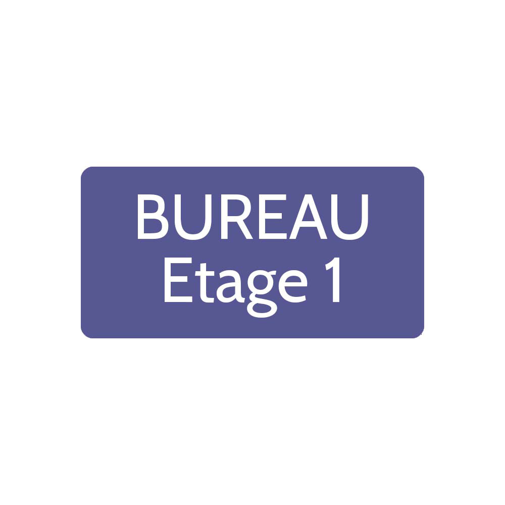 Plaque de porte gravée sur 1 à 2 lignes couleur violette lettres blanches - Rectangle angles arrondis 100 x 200 mm