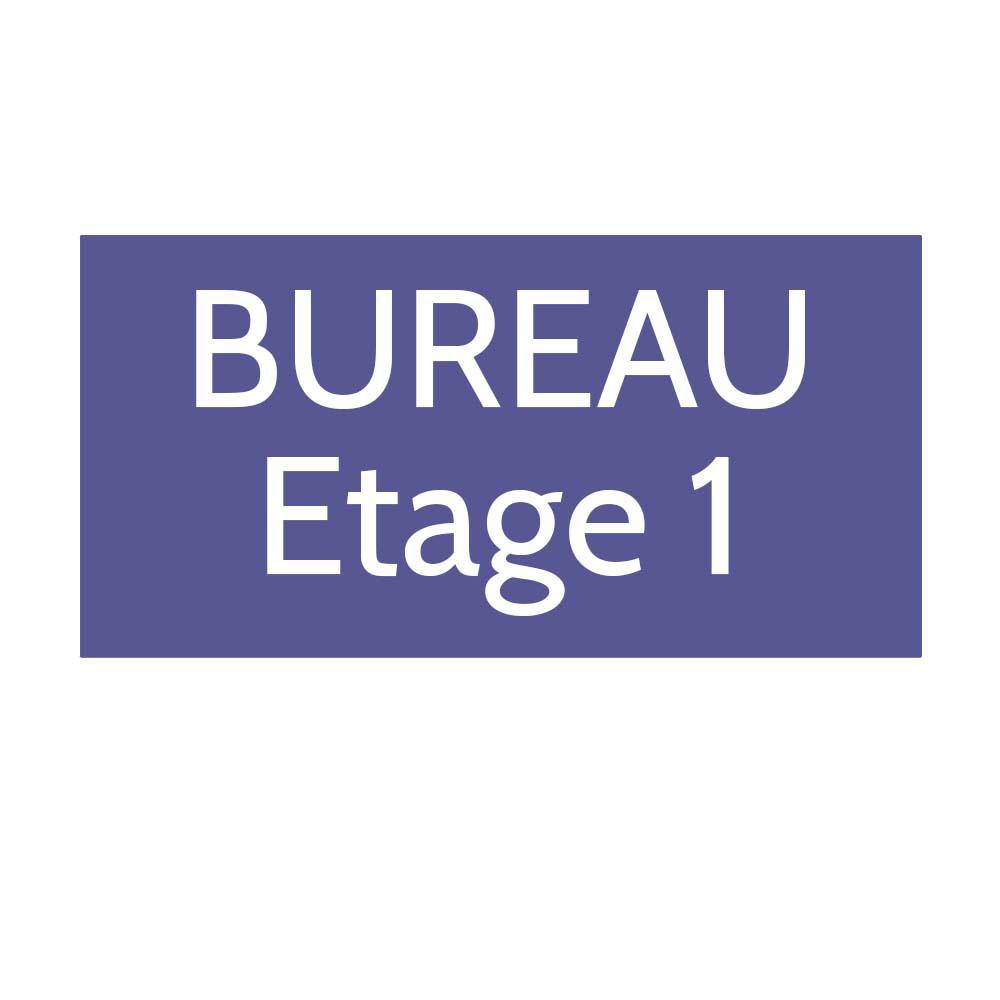 Plaque de porte gravée sur 1 à 2 lignes couleur violette lettres blanches - Format rectangle 125 x 250 mm