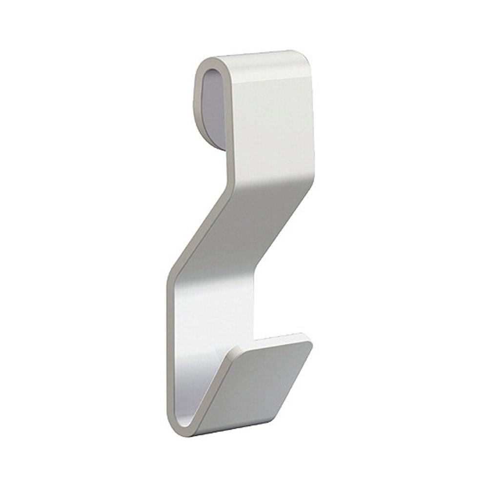 Crochet en S blanc pour câbleà boucle