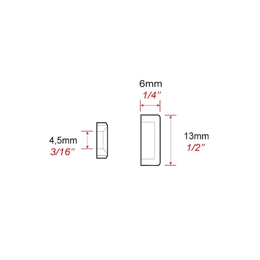 Cache screw alu 13 mm