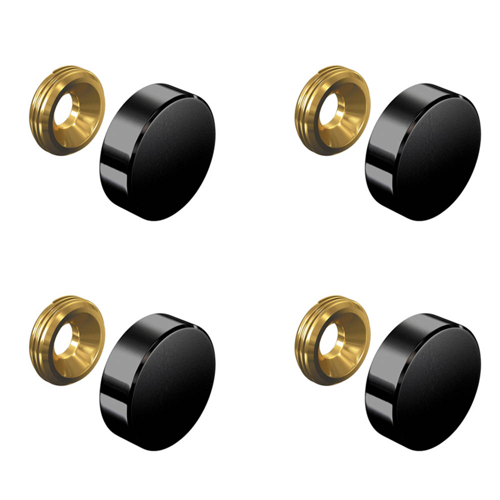 Set de 4 cache vis noir 18 mm