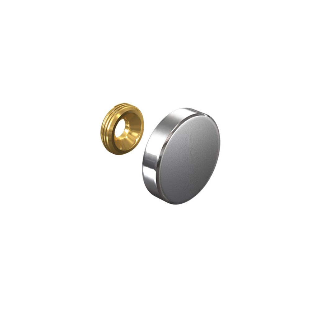 Cache vis Inox 24 mm (à l'unité)  - Fixation signalétique