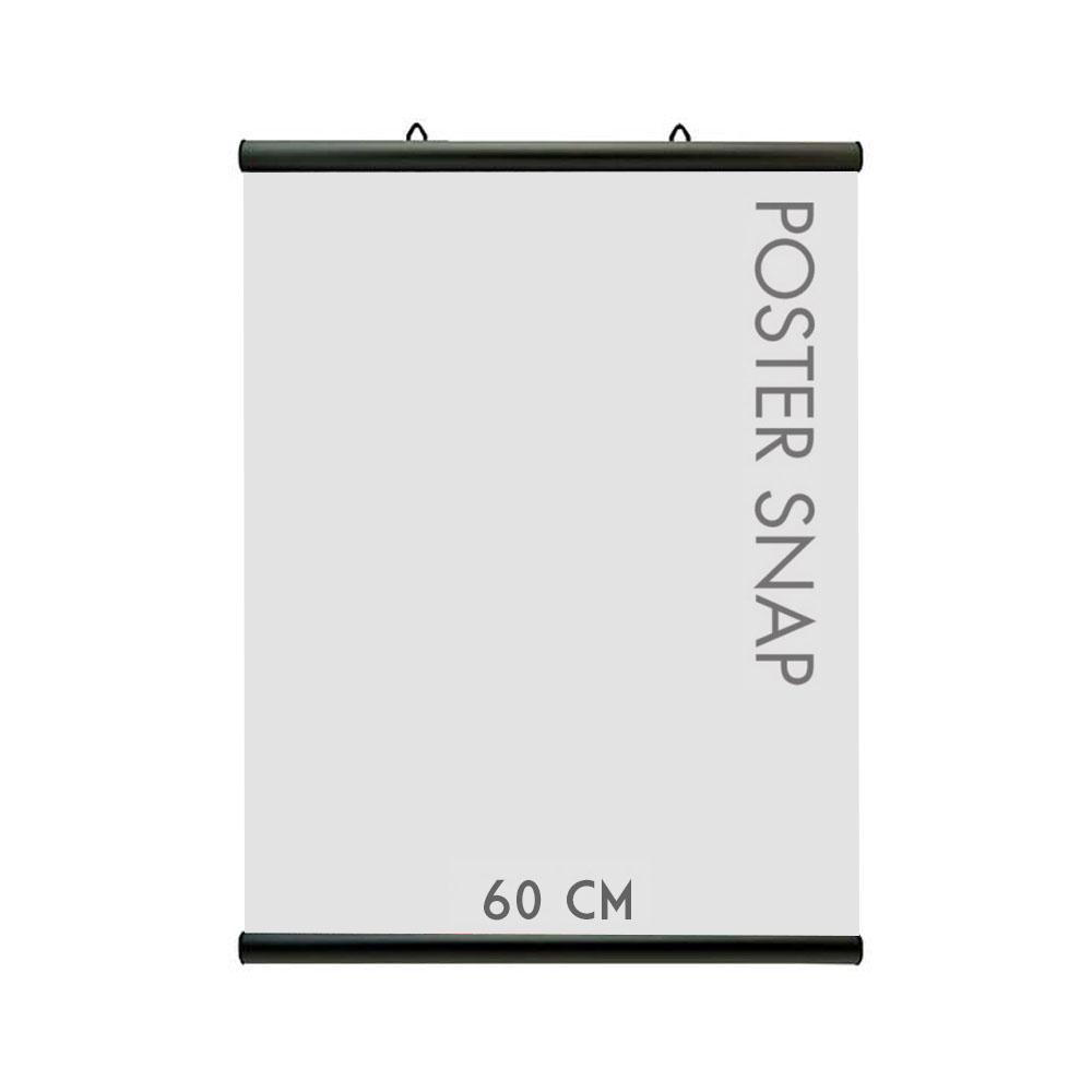 Porte affiche Poster Snap 60 cm couleur NOIR - Profils pour suspension d'affiches, posters, PLV