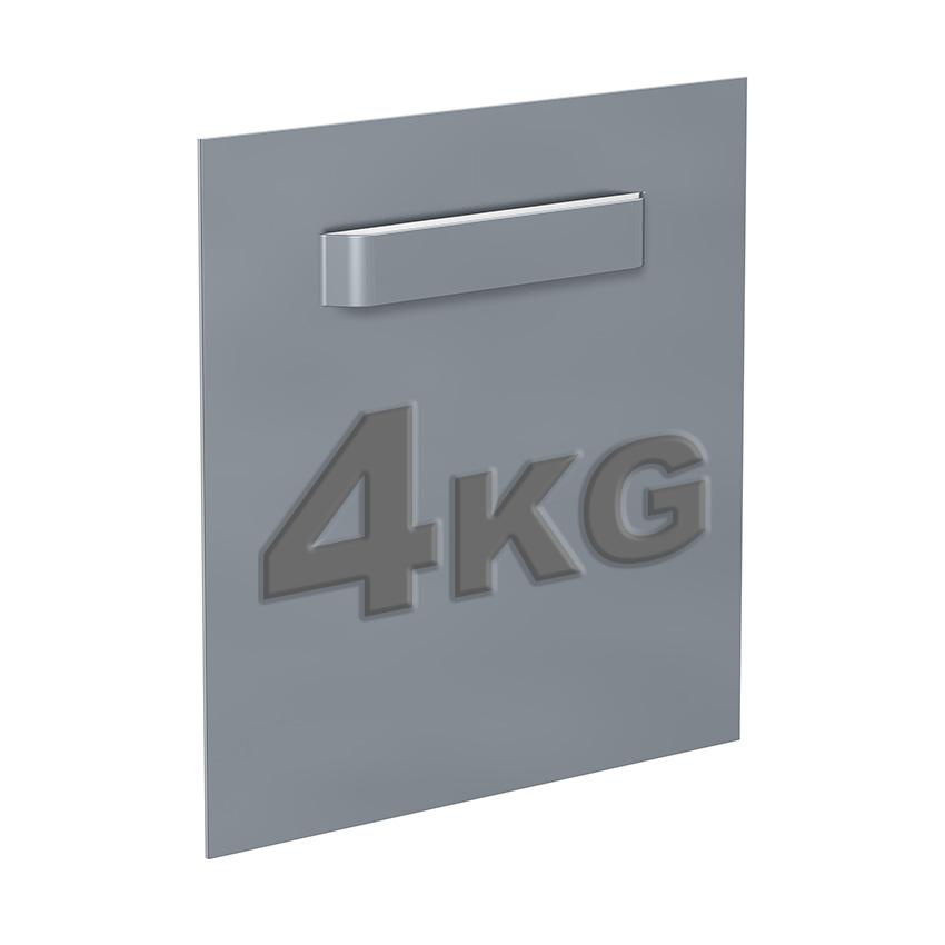 Attaché Dibond 100 x 100 mm: max 6 kg