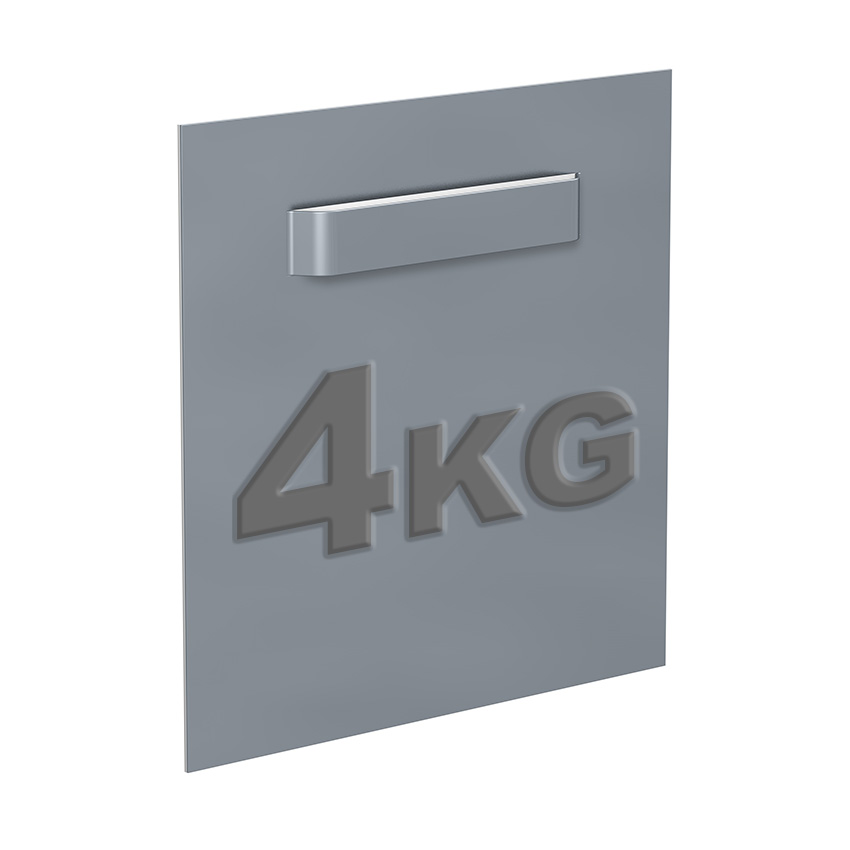 Attaché-Dibond 100 x 100 mm: Max. 6 kg