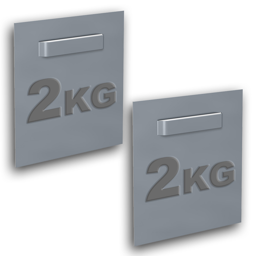 Box of 2 adhesive fasteners for Dibond and mirror 70 x 70 mm : max 2 kg